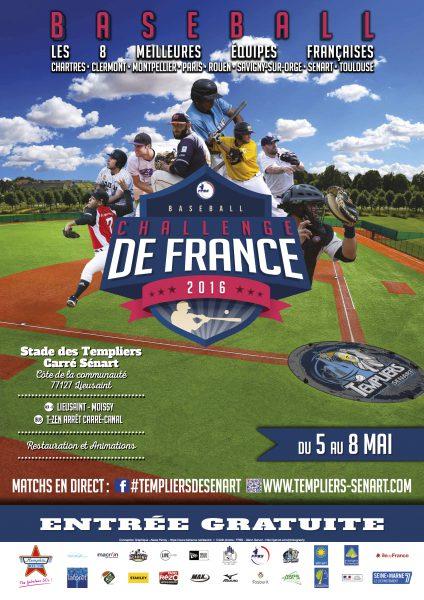 Affiche CdF Baseball 2016