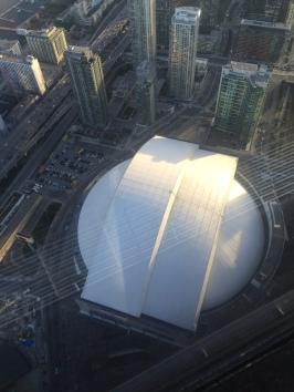 Le Rogers Centre vu d'en haut
