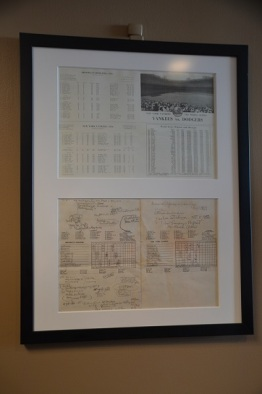 Feuille de scorage du Perfect Game de Dan Larsen en 1956.