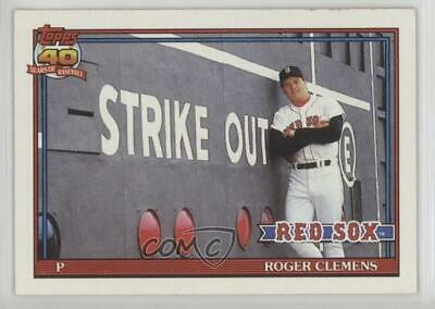 1991-Topps-530-Roger-Clemens-Boston-Red-Sox